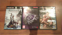 Pc: Assassin's Creed 3, Saints Row 3, FarCry 3