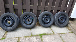 Rims with winter tires