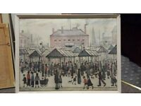 LS Lowry glazed copy of print
