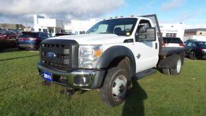 2011 Ford Super Duty F-550 DRW HD CHASSIS 4x4 Diesel  Flat Deck