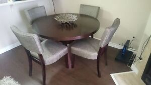 "5 Piece Dining Set (48"" Diameter) – Great Condition"