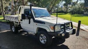 2010 Toyota Landcruiser VDJ79R 09 Upgrade GXL (4x4) White 5 Speed Manual Cab Chassis Prospect Prospect Area Preview