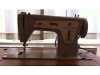 Singer sewing machine & table
