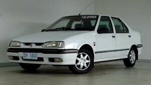1994 Renault 19 RT White 5 Speed Manual Sedan Hobart CBD Hobart City Preview