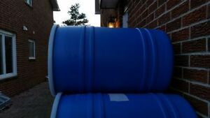 35 Gallon Plastic Barrels