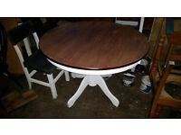 Pedestal Dining Room Table Upcycled