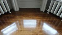 Hardwood floor sanding, installation, varnish and finishing,