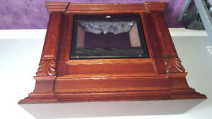 COLEMAN electric fireplace WITH MAHOGANY MANTEL