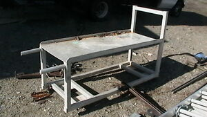 strong sturdy aluminum work bench