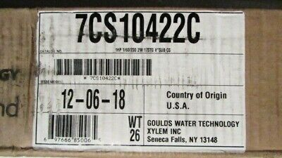 7cs010422c Goulds 7gpm 1hp Submersible Water Well Pump 230v 2 Wire Free Ship...