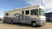 2000 FLEETWOOD SOUTHWIND, 34' CLASS A, SLIDE, V 10, IMMACULATE!