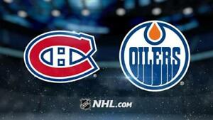 canadiens vs oilers edmonton club desjardins 514 655 9077