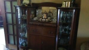 Antique Bevelled Glass China Cabinet