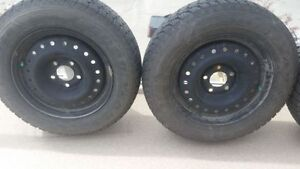 Goodyear winter tires 206/65R15 with rims