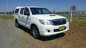 2012 Toyota Hilux KUN16R MY12 SR White 5 Speed Manual Dual Cab Pick-up Muswellbrook Muswellbrook Area Preview