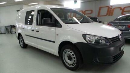 2013 Volkswagen Caddy 2KN MY13 TDI250 White 5 Speed Manual Van