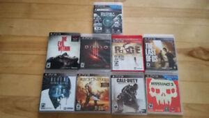 Plusieurs jeux de ps3
