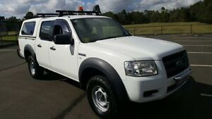 2008 Ford Ranger PJ 07 Upgrade XL (4x4) White 5 Speed Manual Dual Cab Chassis Revesby Bankstown Area Preview