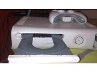 xbox 360 console with hdd and 2 controllers