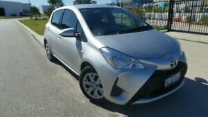 2017 Toyota Yaris NCP130R Ascent Silver Pearl 4 Speed Automatic Hatchback Bassendean Bassendean Area Preview