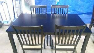 Table and 4 Chairs - Rich cappuccino finish