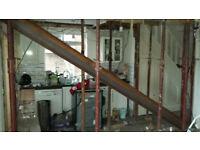 Chimneys removed, Steel Beams & Lintels installed