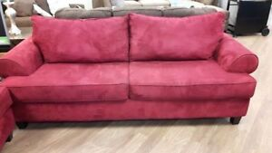 DYNASTY RED SOFA AND LOVE SEAT