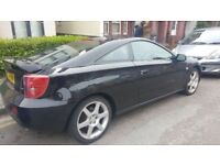 2004 Toyota Celica 1.8 VVT-I leather spec , black , sports coupe, long MOT