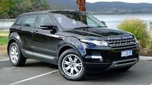 2012 Land Rover Range Rover Evoque L538 MY12 TD4 CommandShift Pure Black 6 Speed Sports Automatic Wa Hobart CBD Hobart City Preview