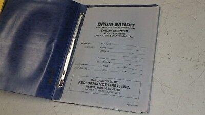 Drum Bandit Chipper 1290 1690 Operators Parts Manual Ci105