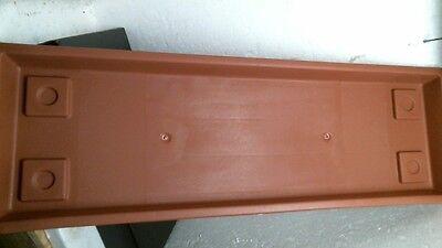 "AKRO MILS 24"" Clay Venetian Flower Box Tray SV2400E35"