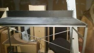 Sturdy metal leg prep tables