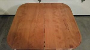 Solid Hardwood Dining Table With Leaf