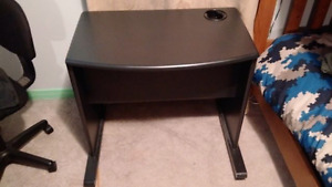 Small Desk on Wheels with hidden storage