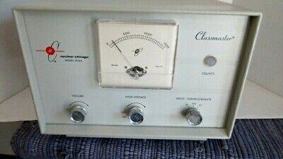 Vtg Cold War-era Tube-type Geiger Counter Radiation Detector - Classmaster 1613a