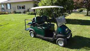 2011 CLUB CAR  GOLF CART EQUIPPED W/ REAR FLIP SEAT & LIGHTS!