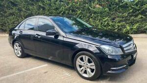 2013 Mercedes-Benz C-Class W204 MY13 C200 7G-Tronic + Black 7 Speed Sports Automatic Sedan