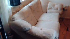 Harveys 2 plus 3 seater sofas in cream damask fabric