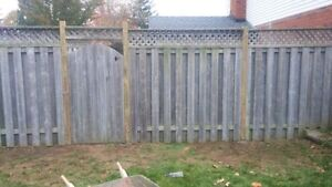 Fence Post Replacement Specialist Cambridge Kitchener Area image 1