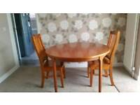 Fold out table with 6 chairs, mapperly nottingham