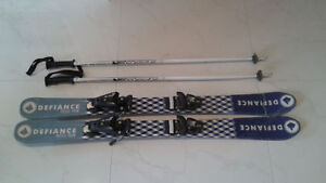 110 cm length Kids skis with binding.   Great condition