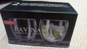 BRAND NEW Bodum Pavina Double Wall 8.5-Ounce Thermo-Glasses