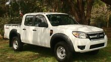 2010 Ford Ranger PK XL Crew Cab White 5 Speed Automatic Utility Oaks Estate Queanbeyan Area Preview