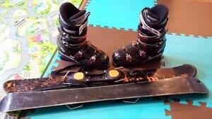 Firefly Snow blades and Rossignol boots