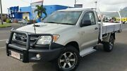 2008 Toyota Hilux KUN26R MY09 SR Silver 5 Speed Manual Cab Chassis Bungalow Cairns City Preview