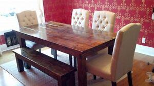 Rustic kitchen table custom made