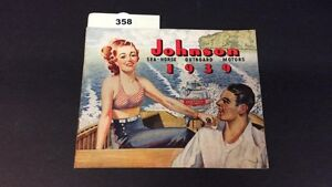 1939 JOHNSON SEAHORSE OUTBOARD MOTOR BOOKLET