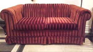 Burgundy Loveseat **FREE**