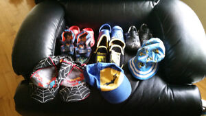 Gently Used Toddler Boys Various Summer Hats and Shoes*Some Sold