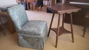 BEAUTIFUL UPHOLSTERED FULL SKIRTED PARSONS CHAIR, HALL CHAIR